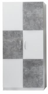 Jugendzimmer Kleiderschrank Nari Weiß Grau