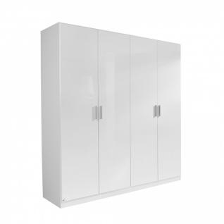 Drehtürenschrank CELLE weiß / alpinweiß 181 x 210 x 54 cm