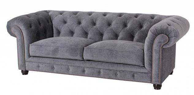 Sofa 2, 5-Sitz Orleans Samtvelours, grau