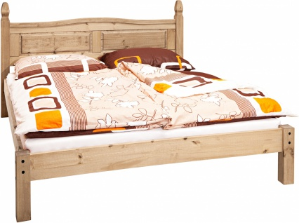 Sama Doppelbett Pinie massiv 180x200 Honig