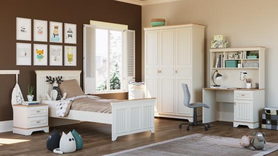 Jugendzimmer Monte im Landhausstil Weiß
