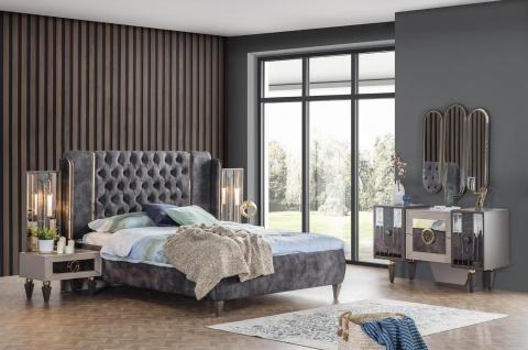 Weltew Schlafzimmer Set mit Stauraumbett 180x200 Lizbon