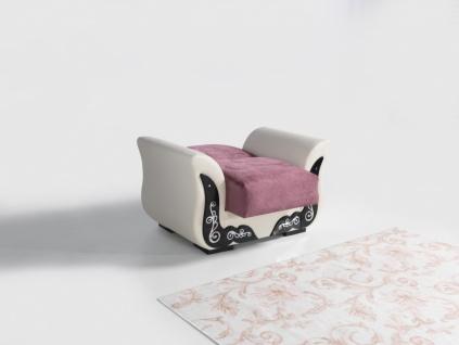 Couch Garnitur mit Schlaffunktion in Rosa ECE 3+2+1 - Vorschau 3