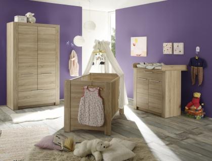 Babyzimmer Set Jara 3-teilig in Eiche Sägerau