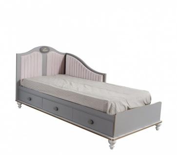 Jugend Einzelbett Gloria modern in Grau 100x200