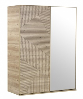 Design Schwebetürenschrank mit Spiegel Origami