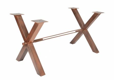 Tischgestell Cibus X-Form Antikbraun