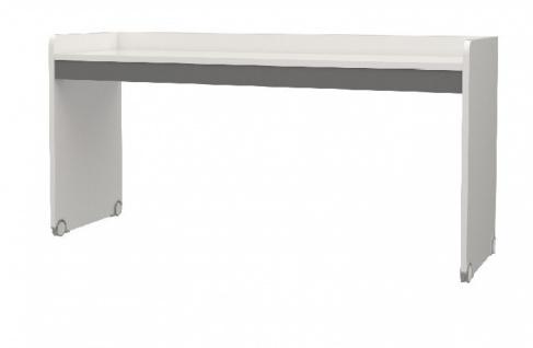 Hochbett Schreibtisch in Weiß Grau Neo