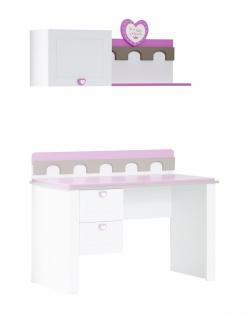 Wandregal Prinzessin Castle in Weiß Pink
