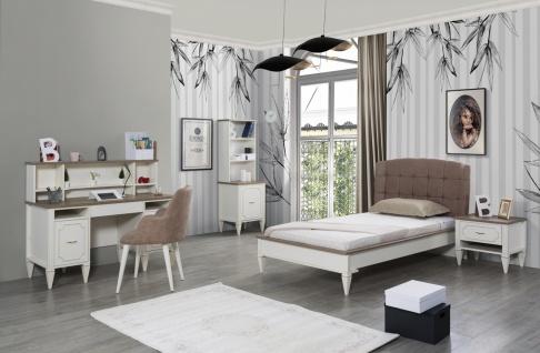 Jugendzimmer Set Belli 4-teilig mit Bett 120x200