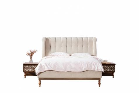 Doppelbett Varun mit Bettkasten 160x200 Creme