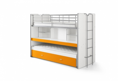 Bonny Hochbett mit Schreibtisch 90x200 in Orange