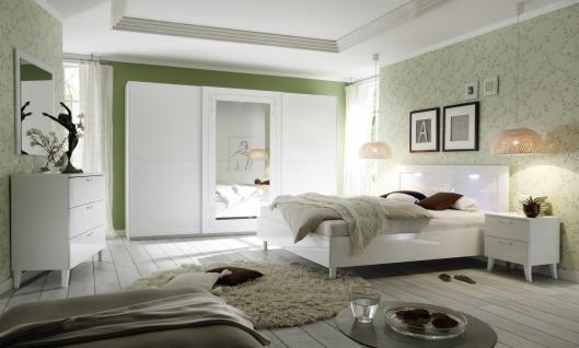 Schlafzimmer-Set Casa Weiß Hochglanz 4 teilig