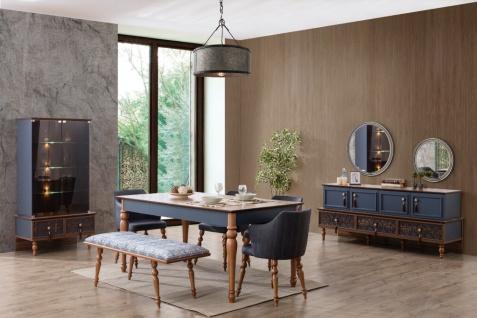 Esszimmer Set komplett Varun 8-teilig in Blau