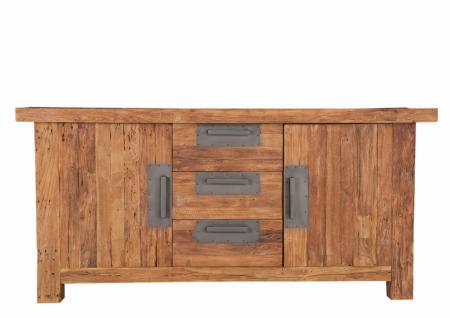 Sideboard Neum mit 2 Türen aus recyceltem Teakholz