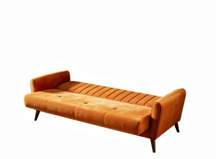 Couch Garnitur Maya 2-teilig Retrostyle Orange - Vorschau 2