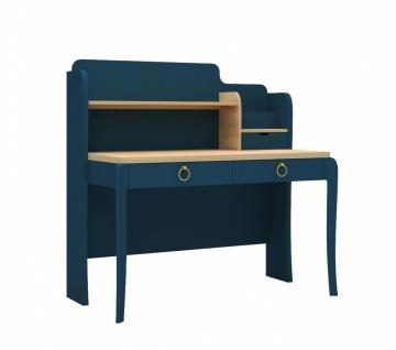 Design Schreibtisch Elegant Blue mit LED und USB