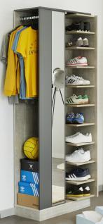 Schuhschrank mit Spiegel Sneaky 1-türig