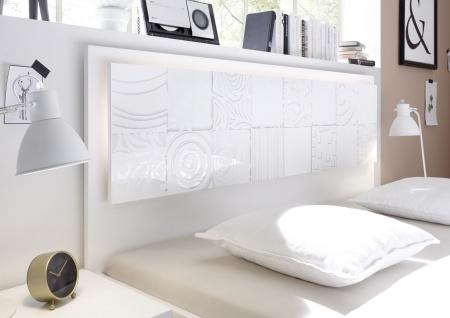 Design Bett in Weiß gemustert Xena 160x200