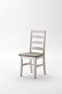 Stuhl Olio in Kiefer Massiv Weiß