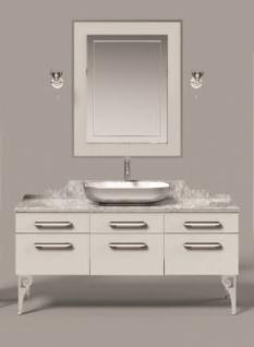 Pierre Cardin Waschbecken mit Unterschrank Mars in Weiß / Chrom