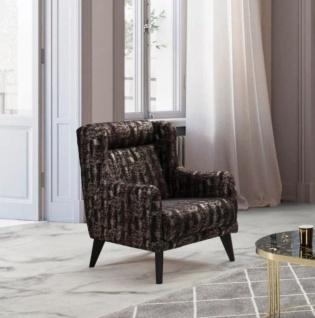 Design Sessel Samt Melino Metall