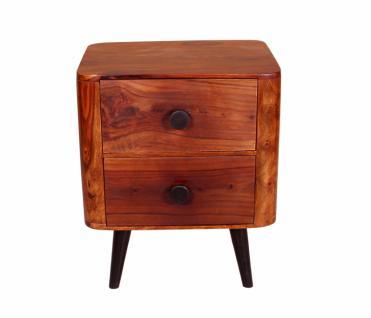 Nachttisch Button mit 2 Schubladen Sheeshamholz