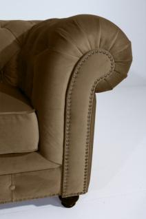 Sofa 2, 5-Sitz Orleans Samtvelours, sahara