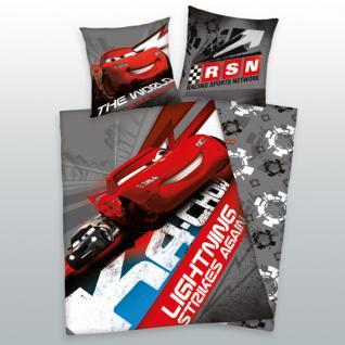 Bettwäsche Cars Racing Lightning 2-teilig 135x200