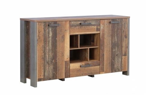 Sideboard in Old Wood Vintage Cleo 2-türig