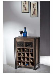 Weinregal Pontem mit 16 Flaschenablagen Sheeshamholz