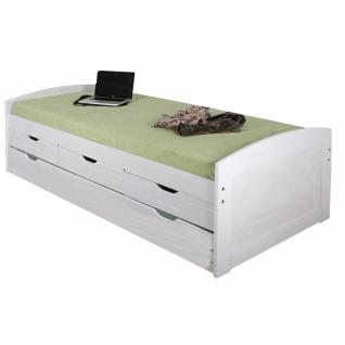 Berle Sofabett 90x200 mit Lattenrost Weiß