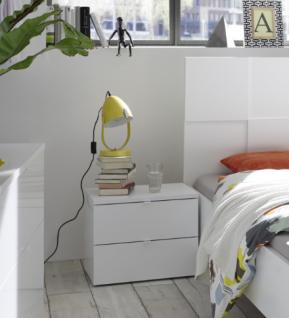 Design Nachtkommode in Weiß Lack Ottea