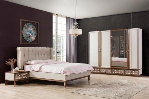 Schlafzimmer Set Varun in Creme Braun