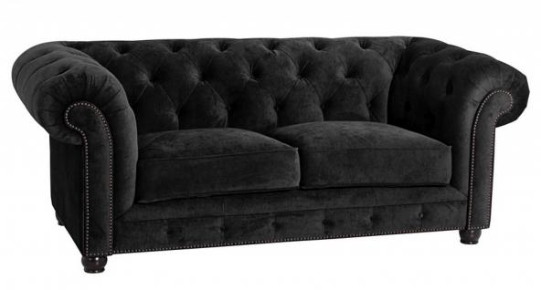 Sofa 2-Sitz Orleans Samtvelours verschiedene Farben