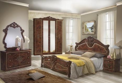 Schlafzimmer Set Walnuss Malfi mit 4-türigem Schrank