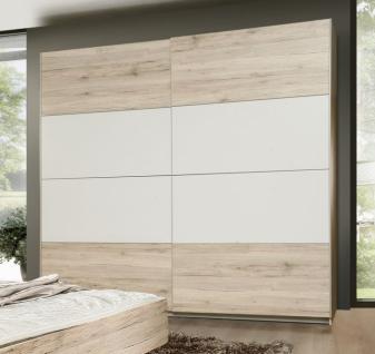 Schlafzimmer in Sandeiche Weiß Janette 4-teilig - Vorschau 2