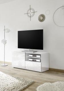 TV Schrank mit Siebdruck Orim Weiß