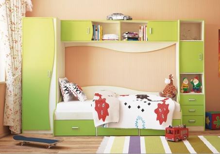 Kinderzimmer Set Combi 4-teilig mit viel Stauraum