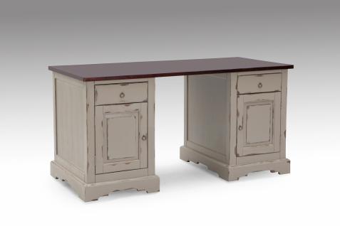 Schreibtisch Vivet 150x68 mit 2 Türen aus Akazie