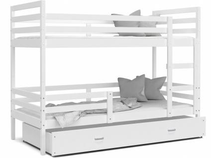 Etagenbett mit Bettkasten Weiß Rico 80x190