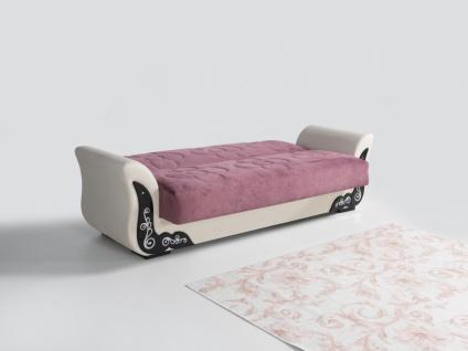 Couch Garnitur mit Schlaffunktion in Rosa ECE 3+2+1 - Vorschau 2