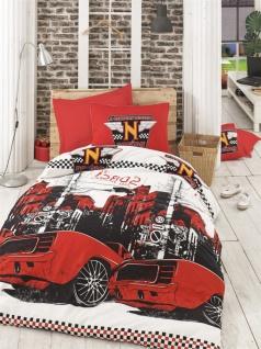 Kinderbettwäsche Set Cool Racer Rot 2-teilig