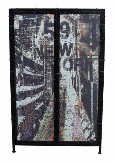 Highboard Antik Ferra mit 2 Türen aus Metall