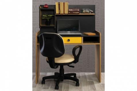 Schreibtisch inklusive Aufsatz Black Dark