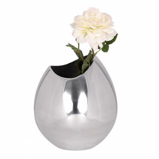 Deko Vase Bowl aus Aluminium Blumenvase in silber