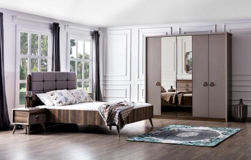 Schlafzimmer-Set mit Stauraumbett Retaro in Grau