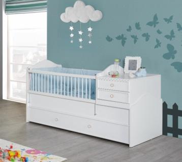 Babybett in Weiß Homeland mitwachsend 80x130-180