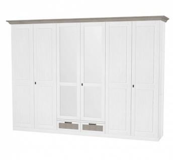 Kleiderschrank Leopold in Weiß mit 6 Türen