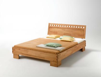 Schlafzimmerbett Stello buche massiv geölt